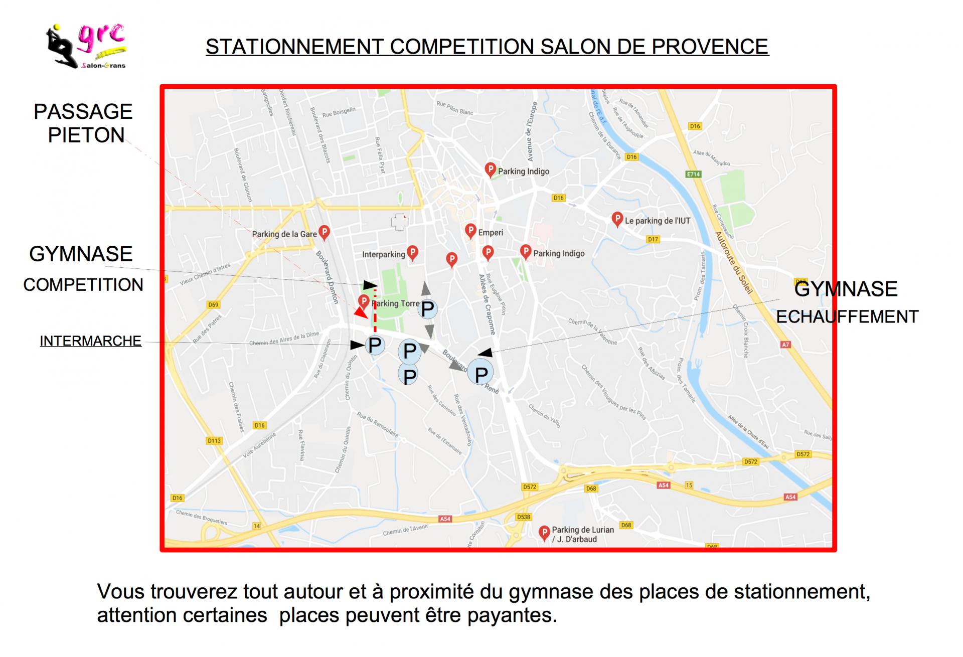 plan parking salon