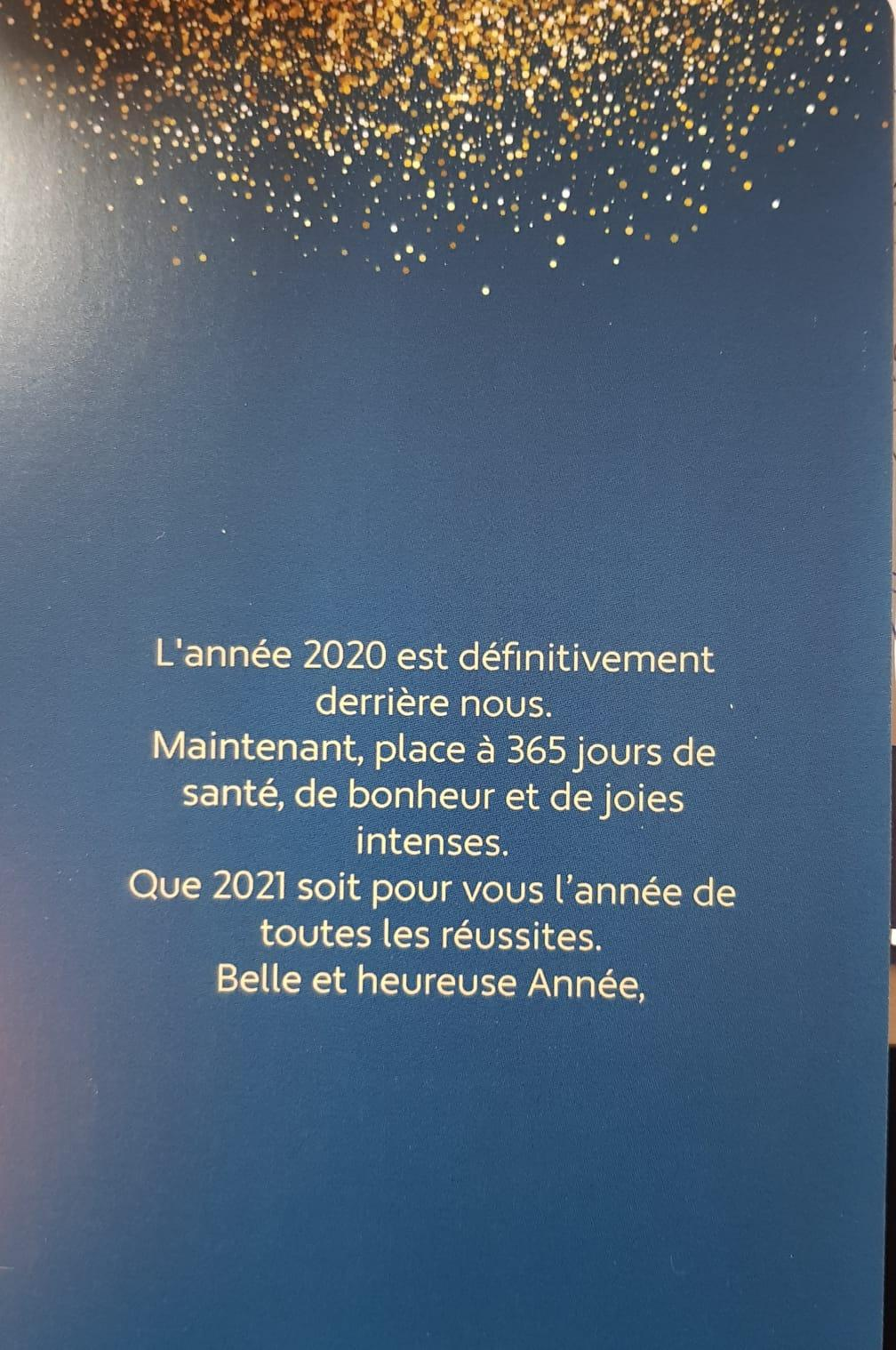 Meilleurs vœux 2021 2